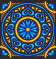 moroccan ceramic tile pattern vector image
