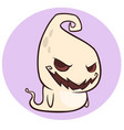 Naughty ghost smiling cartoon