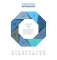 octagon business infographics strategy design vector image