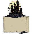 paper background with black castle vector image vector image