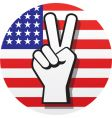 peace sign on US flag vector image