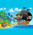 pirate ship theme image 1 vector image vector image