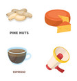 product drink and other web icon in cartoon style vector image vector image