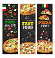 realistic pizza pizzeria flyer background vector image