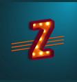 retro style letter z vector image