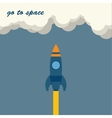 rocket go to space vector image vector image