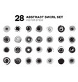 set of abstract black spirals and swirl motion vector image