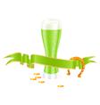 shamrock beer vector image vector image