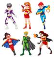 Six superheroes vector image