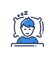 sleep - modern single line icon vector image vector image