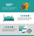 sports infographic design vector image vector image