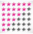 star rating with 6 stars - rating feedback rating vector image vector image