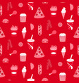 street food seamless paper pattern background vector image