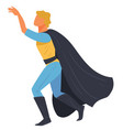 super hero male character superman wearing vector image