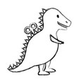 t-rex toy isolated icon vector image