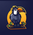 taucan mascot logo design with modern vector image