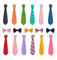 tie and bows colored fashion clothes accessories vector image vector image