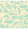 Traveling seamless pattern vector image