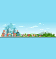 urban and nature landscape modern city buildings vector image vector image