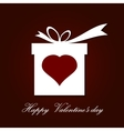 Valentine s day concept with gift box