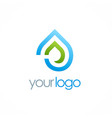 water drop eco logo vector image vector image