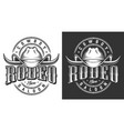 wild west emblems vector image