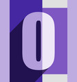 numbers background flat design vector image