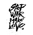 Stop war make love Cola pen calligraphy font vector image