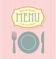 Restaurant menu cover template vector image
