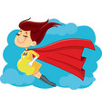 super mom cartoon vector image