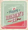 Valentines Day retro card design vector image