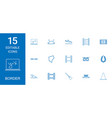 15 border icons vector image vector image
