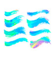 abstract color brush strokes isolated on white vector image vector image