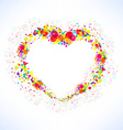Abstract colorful heart shape background vector image vector image