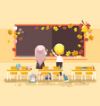 back to school cartoon vector image vector image