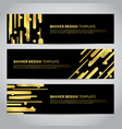 banner covers with gold geometric pattern vector image vector image