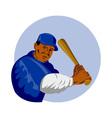 baseball player batting vector image vector image