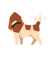 beagle dog wagging tail funny animal cartoon vector image vector image