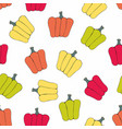 bell pepper seamless pattern vector image
