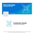 blue business logo template for badge emblem game vector image