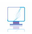 Blue screen vector image