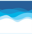 blue wave concept abstract background vector image vector image