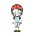 boy cartoon helmat american football isolated vector image