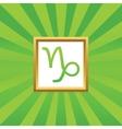Capricorn picture icon vector image