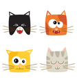Cat emotions composite isolated on white backgroun vector image vector image