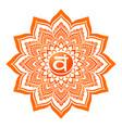 chakra sacral symbol vector image