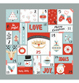 Christmas advent calendar cute decoration elements vector image vector image