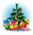 Christmas fir tree with decorations vector image