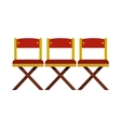 Cinema seats icon in flat style vector image vector image