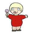 comic cartoon fat child vector image vector image